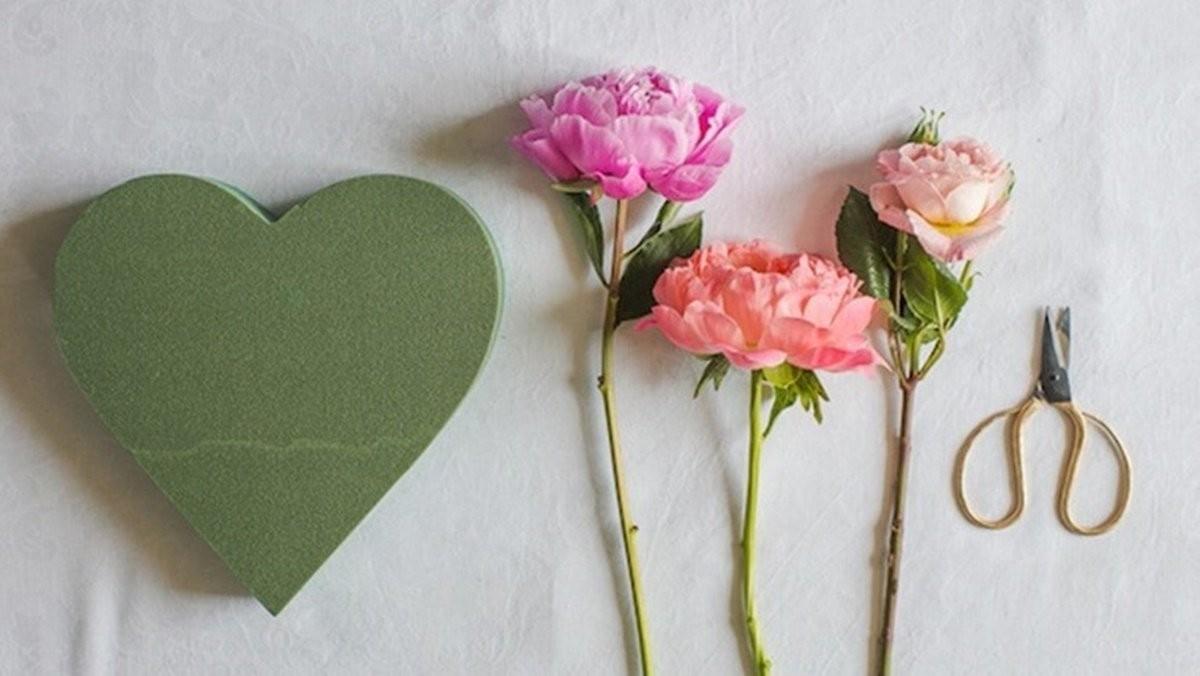 6步驟快速上手,DIY愛心花藝