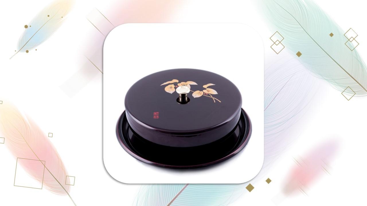 【糖果盒】金枝玉葉(069-79)漆器-餅盒