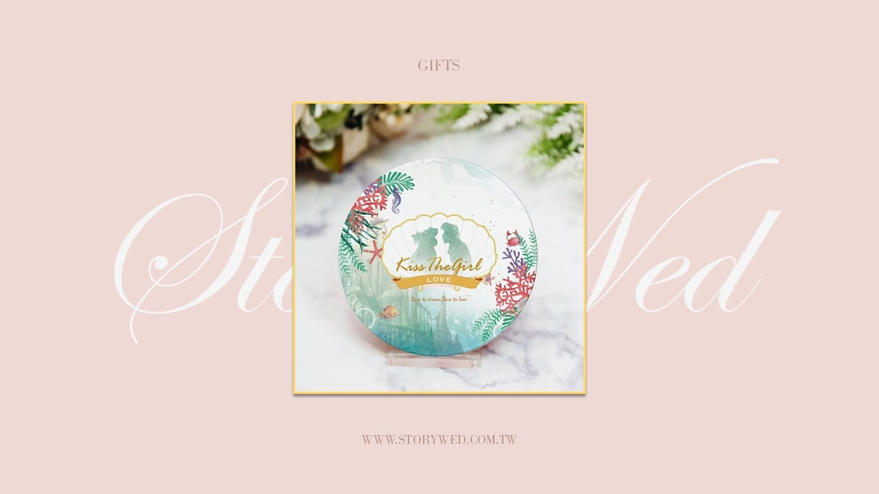 吸水杯墊小美人魚公主造型婚禮風格款 - 可客製(A)